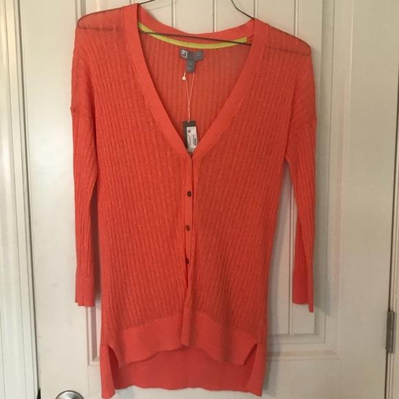 JCP Cardigan Coral Sweater 47ef966cf